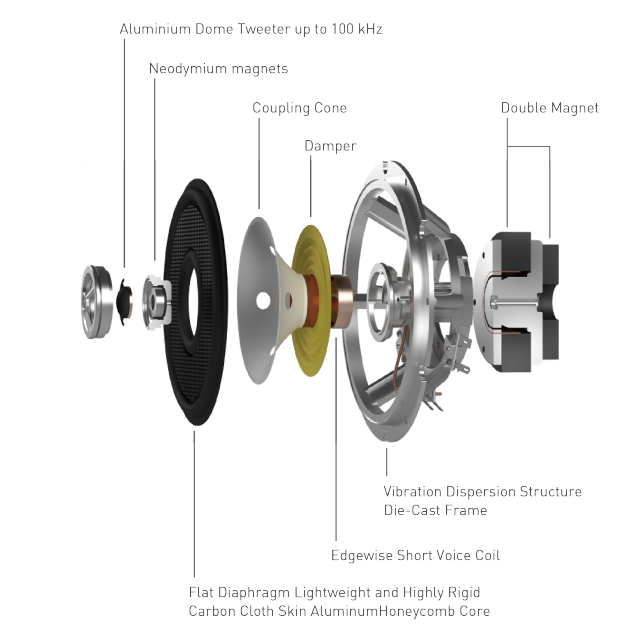 Illustration for structure of speaker unit