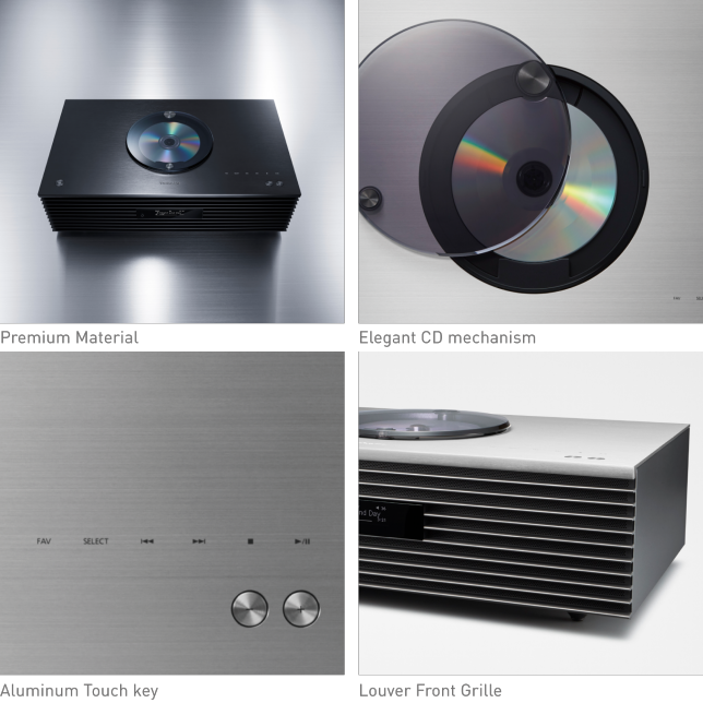 Concept images of multi-room and Technics app