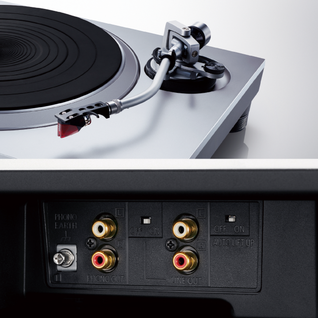 Photo of Built-in Cartridge, Photo of Built-in Phono Equalizer terminals