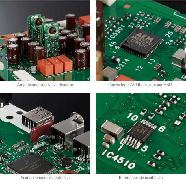 Pictures of component parts for High-grade Digital/Analog I/O Circuit