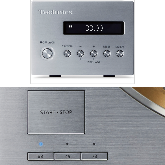 Photo of Control Unit, Photo of Turntable Button